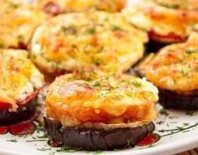 Баклажани, запечені з сиром і помідорами фото