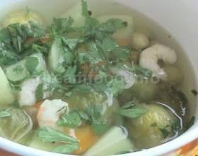 Суп з креветками фото