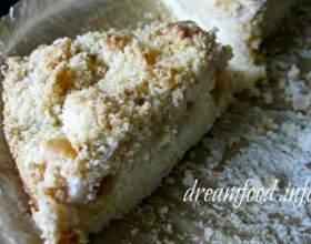 Французький яблучний пиріг з крихтою фото