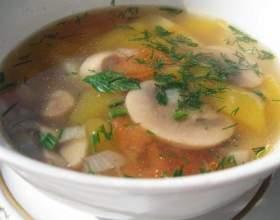 Грибний суп з гарбузом (пісний рецепт) фото