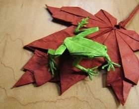 Як зробити жабу з паперу? фото