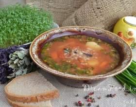 Суп томатний з гречкою фото