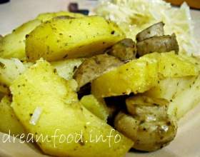 Картопля з печерицями в пароварці фото