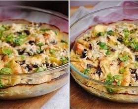 Картопляний гратен з куркою і грибами фото