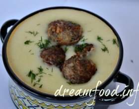Картопляний крем-суп з м`ясними кульками фото