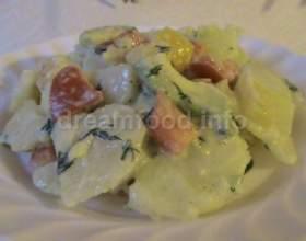 Картопляний салат з авокадо фото