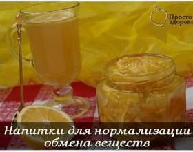 Напої для нормалізації обміну речовин фото