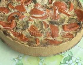Відкритий пиріг з цукіні фото