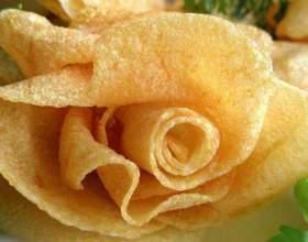 Овочеві трояндочки у фритюрі - прикраса будь-якої страви! фото