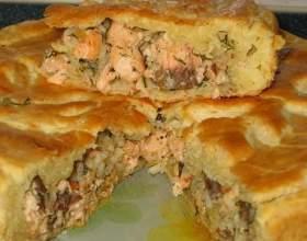 Пиріг з горбушей фото