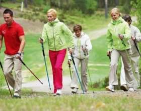 Користь скандинавської ходьби з палицями фото