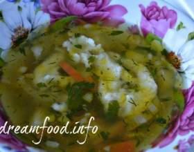 Пісний суп з галушками фото