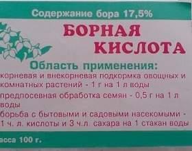 """Застосування борної кислоти в саду і городі С""""РѕС'Рѕ"""