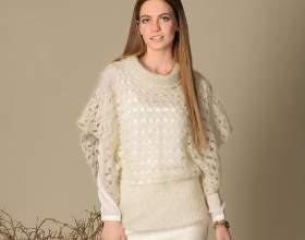 """Пуловер з рукавами- «пончо» С""""РѕС'Рѕ"""