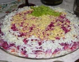 Рецепт салату оселедець під шубою фото