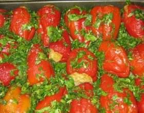 Рецепти перцю, приготованого в духовці фото