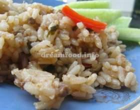 Рис із м`ясним фаршем і баклажанами фото