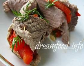 Рулети з яловичини з перцем фото