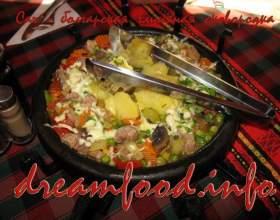 Сач - запіканка на сковороді (болгарська кухня) фото