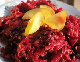 Салат з буряка і солоних огірків (пісний рецепт) фото