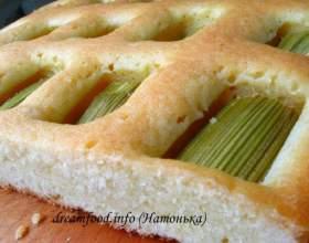 Найлегший пиріг з ревенем фото