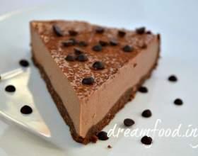 Шоколадний торт суфле без випічки фото