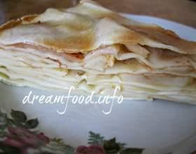 Листковий яблучний пиріг фото