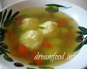 Суп з сирними кульками фото