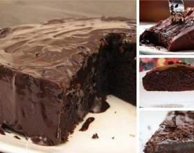 Супер вологий шоколадний пиріг без яєць фото