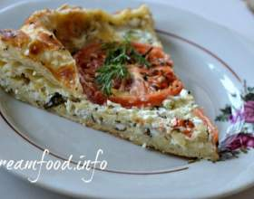Сирний пиріг з сиром і томатами фото