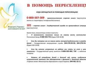 Важлива інформація для біженців, переселенців зі сходу україни та криму фото