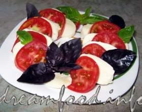 Закуска з помідорів і моцарели фото