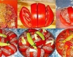 Запечені помідори з фаршем - смачно і красиво фото