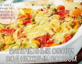 Запечені овочі під ніжним соусом фото
