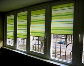Жалюзі плісе на пластикові вікна фото