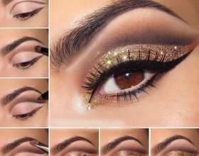Золотий макіяж фото